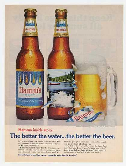 Hamms Beer Better Water Better Beer Bottles Mug (1967)