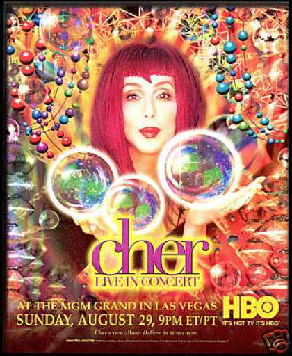 Cher Photo MGM Las Vegas Live Concert HBO (1999)