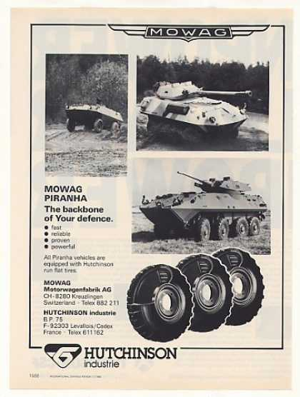 '86 Mowag Piranha Military Vehicles Hutchinson Tires (1986)