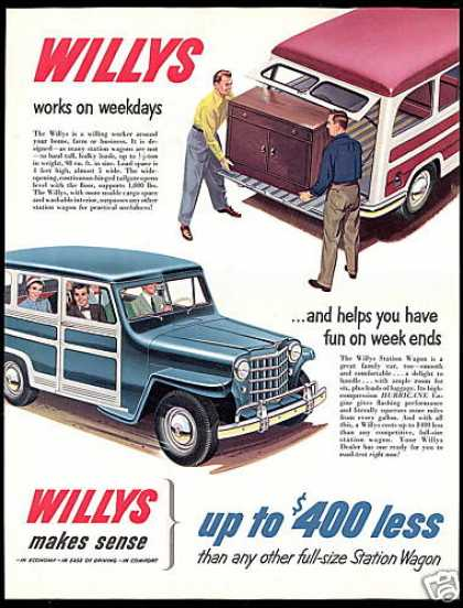 Willys Station Wagon Vintage Car (1951)