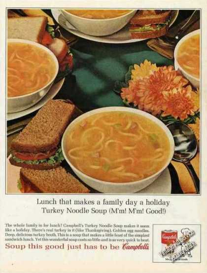 Campbell's Turkey Noodle Soup Impressive Photo (1963)