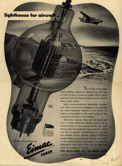 Eitel-McCullough's Radio Equipment for Airplanes – Lighthouse for Aircraft... (1943)