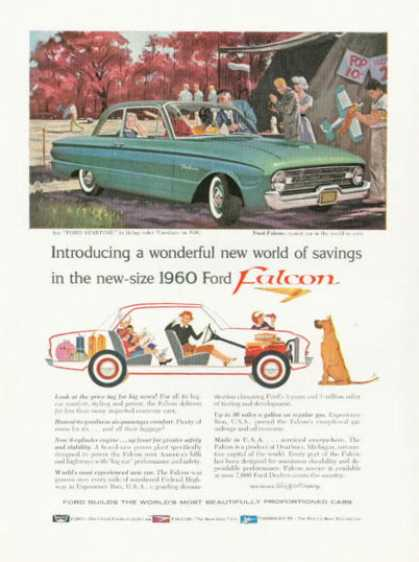 Ford Falcon Ad Model Airplane Flying (1960)