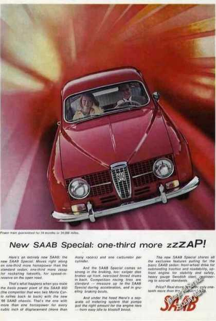 Saab Special Nice Color Glamour Photo (1966)