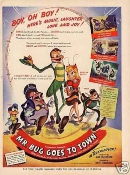 "Movie Ad ""Mr. Bug Goes To Town"" (1942)"