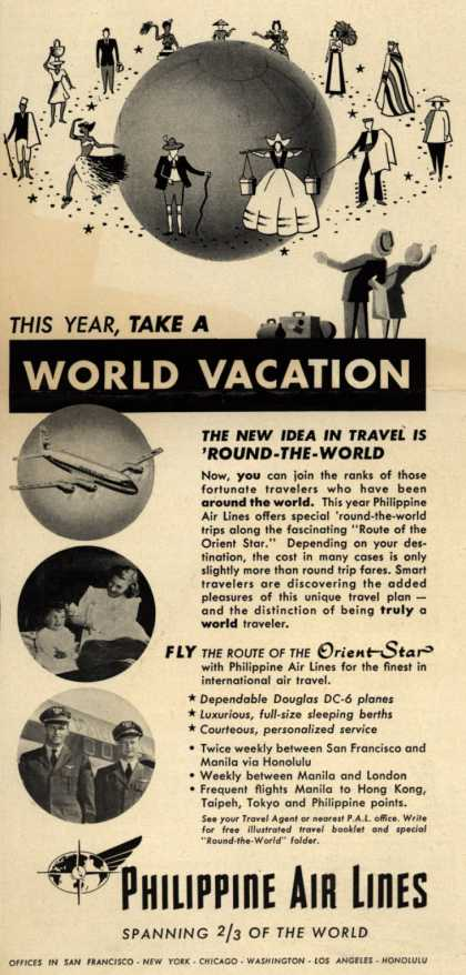 Philippine Air Line's Around the World Vacation – This Year, Take A World Vacation (1951)