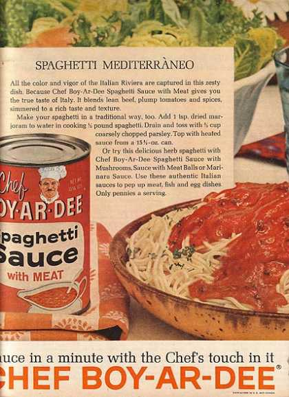 Chef Boy-Ar-Dee's Spaghetti Sauce with Meat (1962)