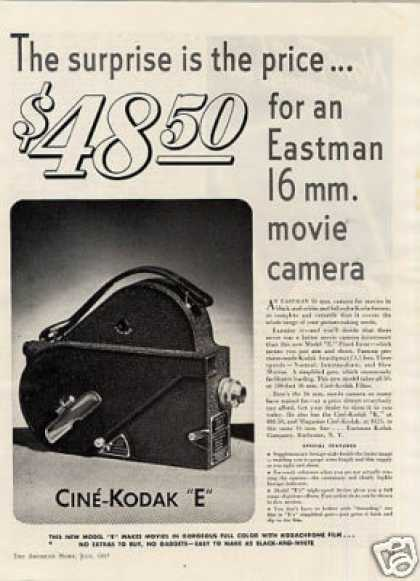 "Eastman Cine-kodak ""E"" Movie Camera (1937)"