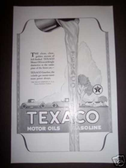 Original Texaco Oil Can Gas Gasoline (1923)