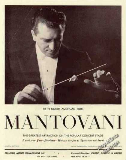 Nice Montovani Photo Collectible Trade (1960)