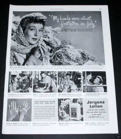 Old , Jergens Lotion, Evelyn Keyes (1949)