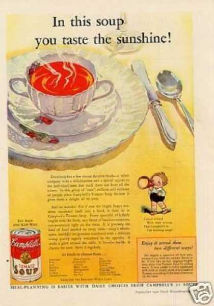 "Campbell's Tomato Soup Ad ""In This Soup... (1932)"