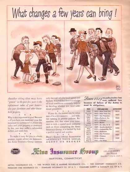 Aetna Insurance Group – Changes (1945)