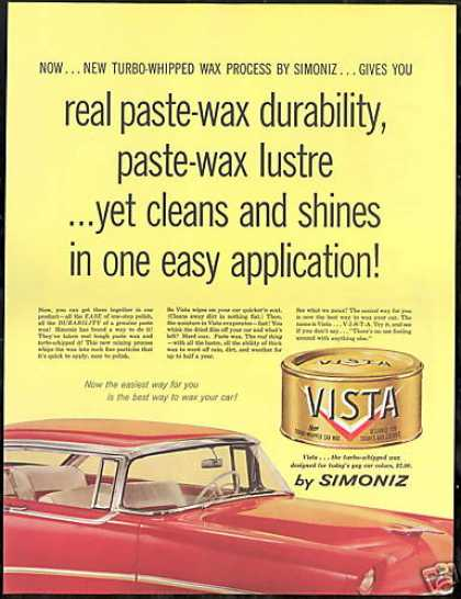 Simoniz Vista Car Wax Vintage Photo (1956)