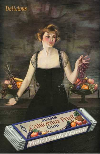 Adams California Fruit Gum, Chewing Gum Sweets, USA (1920)