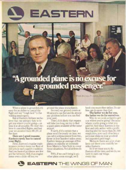 Eastern Air Lines – Frank Borman – Grounded Plane (1976)