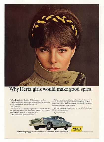 Hertz Rent a Car Girl Makes Good Spy (1966)