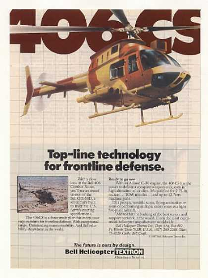 US Army Bell 406CS Combat Scout Helicopter (1987)