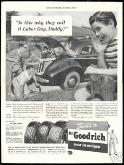 BF Goodrich Tires Labor Day Daddy Photo (1941)