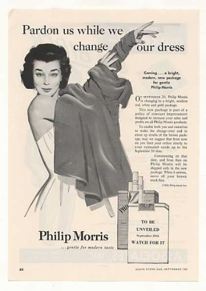 Lady Change Dress Philip Morris Cigarette Trade (1955)