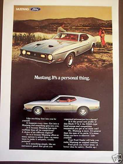 Ford Mustang Mach I Car Photo (1971)