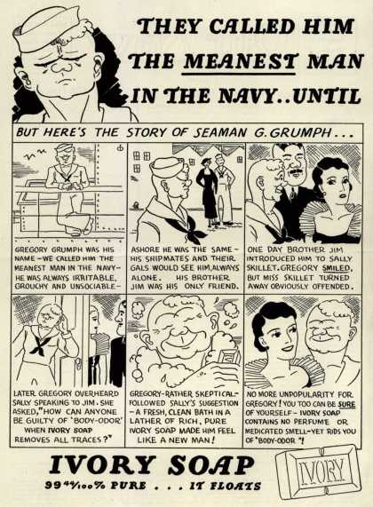 Procter & Gamble Co.'s Ivory Soap – They Called Him The Meanest Man In The Navy...Until (1936)