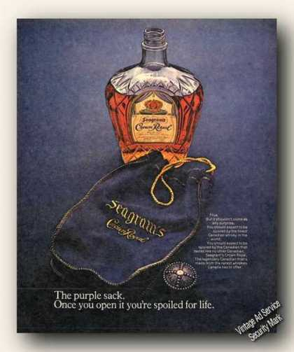 Crown Royal Once U Open Purple Sack Ur Spoiled (1973)