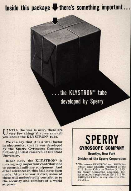 Sperry Gyroscope Company's Klystron tube – Inside this package there's something important (1943)