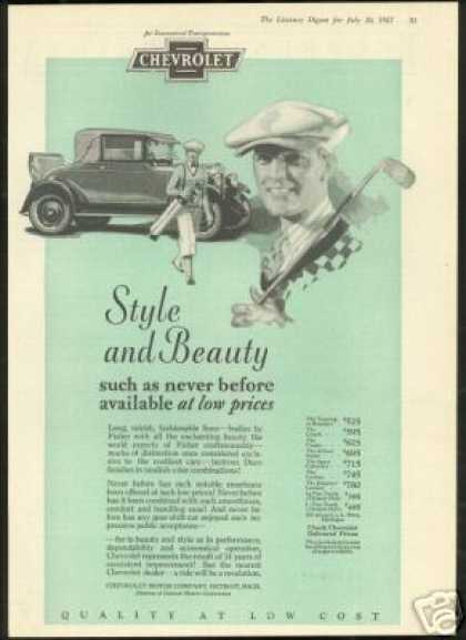 Chevrolet 2 Door Car Vintage Golf Theme (1927)