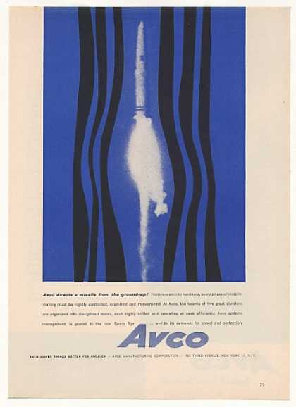 Avco Directs Missile from Ground Up (1958)