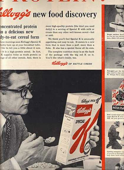 "Kellogg's ""new food discovery"" (1957)"