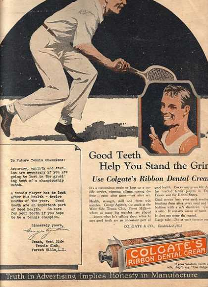 Colgate's Ribbon Dental Cream (1925)