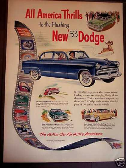 New Dodge for '53 Car Auto (1952)