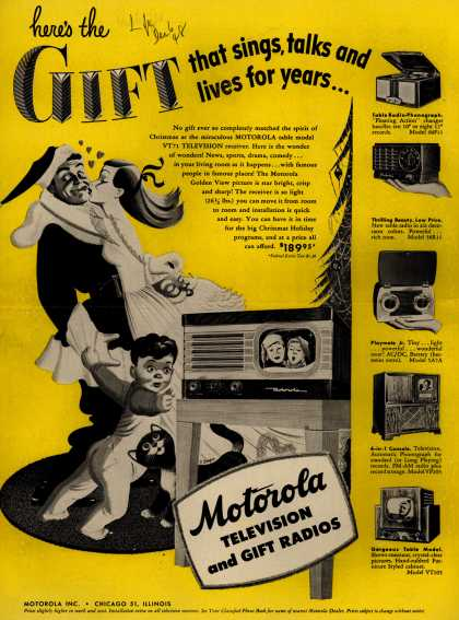 Motorola – Here's the Gift that sings, talks and lives for years... (1948)