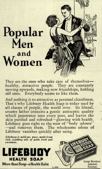 Lever Brothers Limited's Lifebuoy Health Soap – Popular Men and Women (1925)
