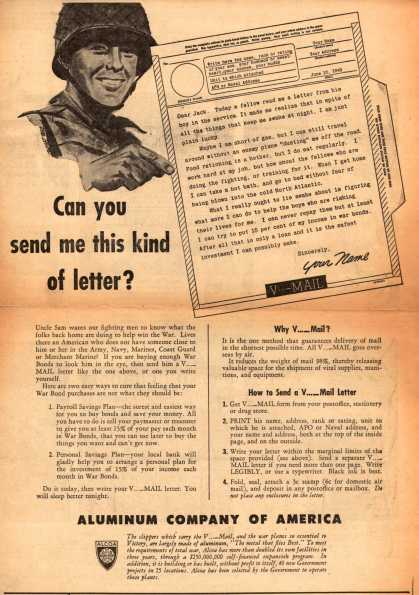 Aluminum Company of America's V-Mail – Can you send me this kind of letter? (1943)