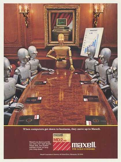 '86 Maxell Floppy Disk Robots Business Meeting (1986)
