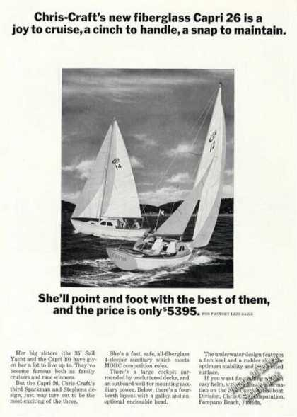 Chris-craft Capri 26 Sailboat Advertising (1965)