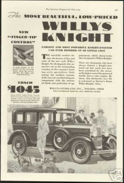 Willys Overland Knight Six Vintage Art (1929)