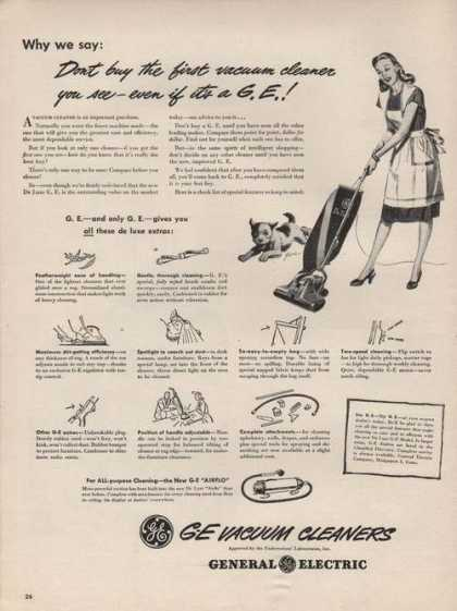 G E Vacuum Cleaners (1946)