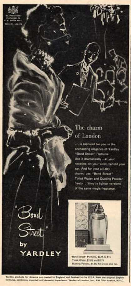 Yardley Bond Street Perfume Art (1951)