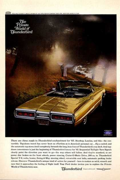 Ford Thunderbird Convertible (1965)