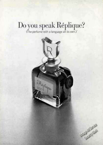 Do You Speak Replique? Collectible Perfume (1968)