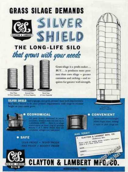 Clayton & Lambert Silver Shield Silo Middletown (1955)