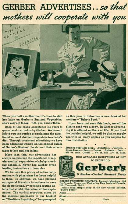 Gerber Products Company's Gerber Shaker-Cooked Strained Foods – Gerber Advertises...So That Mothers Will Cooperate with You (1935)