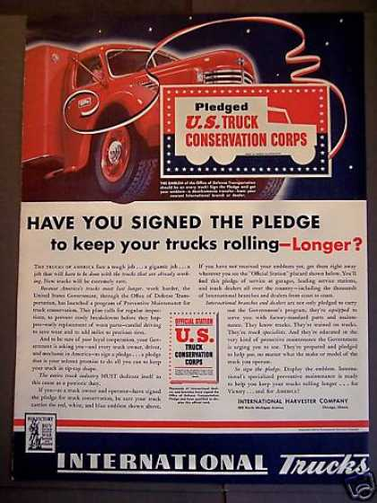 U.s. Truck Conservation Corps 'sign the Pledge' (1942)