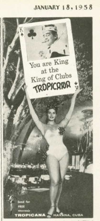 The Tropicana Havana Cuba King of Clubs (1958)