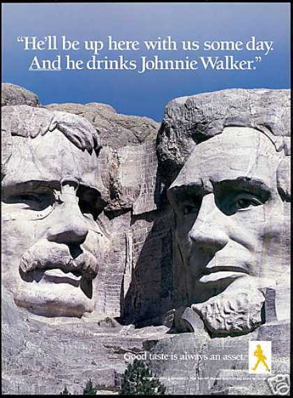 Mt Mount Rushmore Johnnie Walker Scotch (1988)