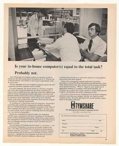 Tymshare Computer Computing Service (1977)