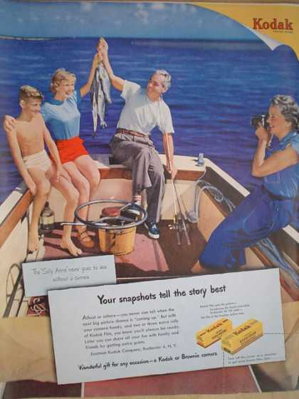 Eastman Kodak Co. Your snapshots tell the story best. Boat fishing theme (1950)